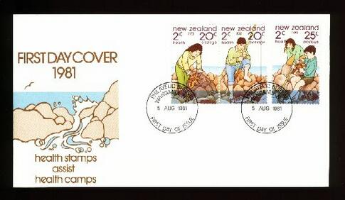 1981 Fishing health fdc