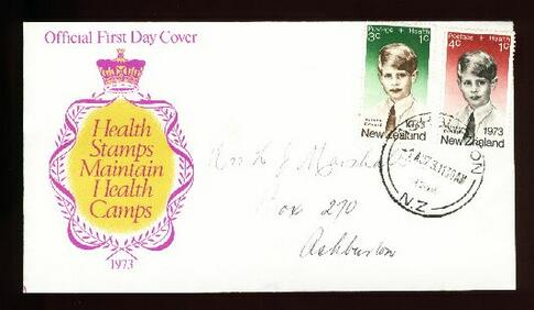 1973 Health fdc, Ashburton