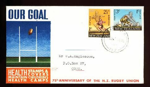 1967 New Zealand health rugby fdc, Rangiora