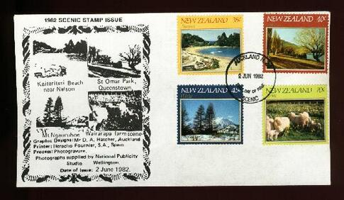 1982 Scenic Stamp fdc