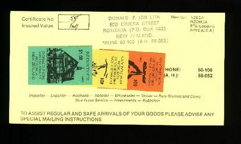 1970? Donald Ion Ltd Indemnity Fee stickers, Nice item