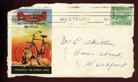 1946 Phillips Bicyles lion cover front only, Westport