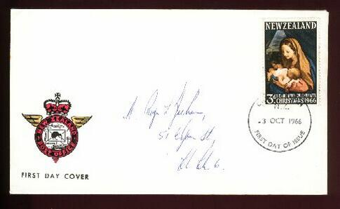 1966 Christmas fdc, Christchurch