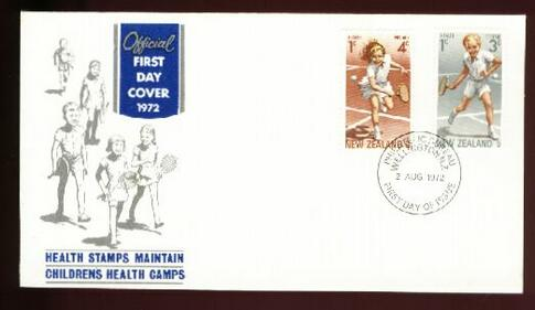 1972 Health tennis fdc
