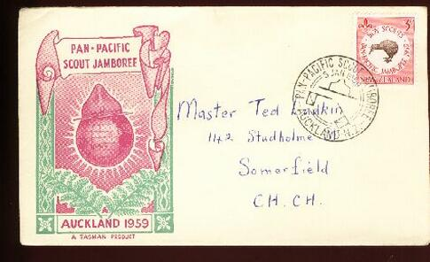 1959 Scout Auckland fdc