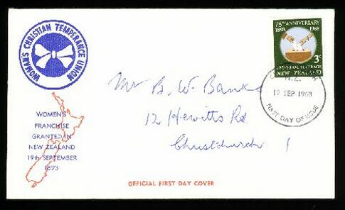 1968 Womens Christian fdc