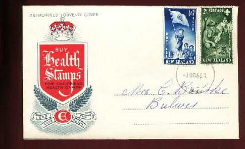 1953 Health fdc Buliver