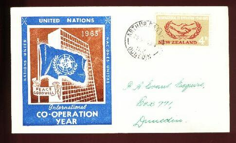 1965 United Nations fdc Arthur Barnetts