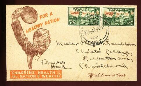 1946 Health fdc Wellington
