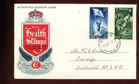 1953 Health fdc Hinds