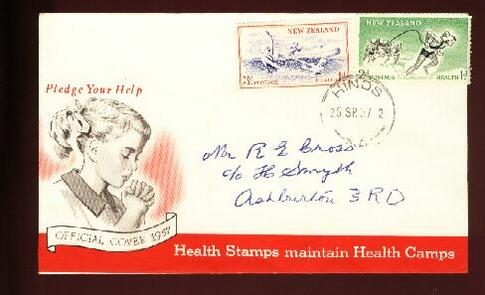 1957 Health fdc Hinds