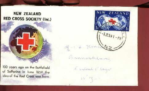 1959 Red Cross fdc Invercargill