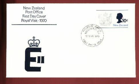 1970 Royal visit fdc