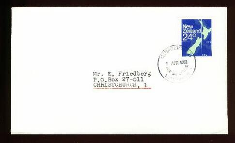 1982 Map 24c fdc Christchurch