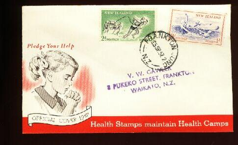 1957 Health fdc Frankton Junc, address Frankton