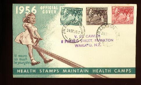 1956 Health fdc Frankton Junc, address Frankton