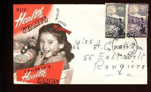 1954 Health fdc Rangiora Everest Hillary