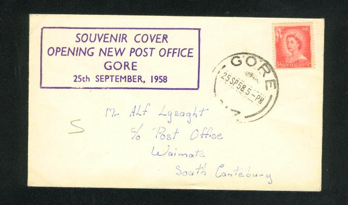 1958 Opening new post office gore