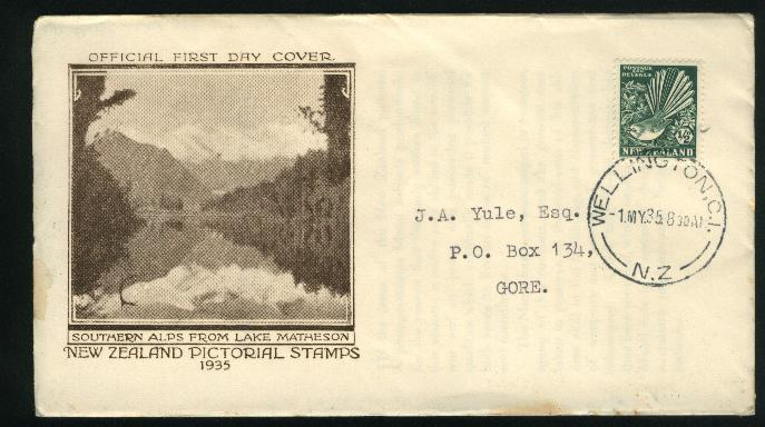 1935 Pictorial 1/2d lake matherson