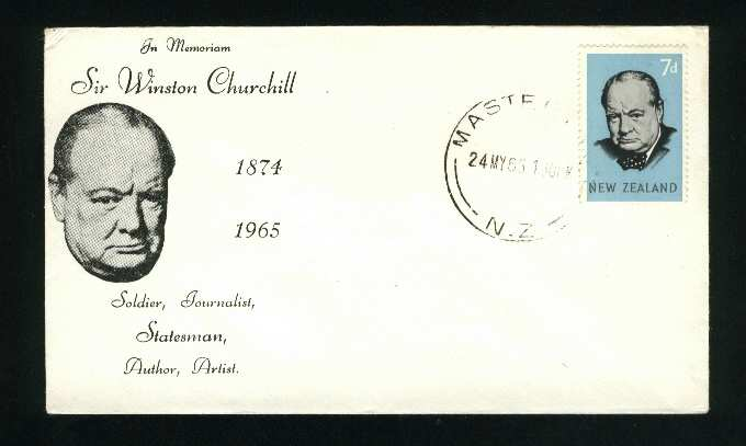 1965 Winston churchill fdc New Zealand