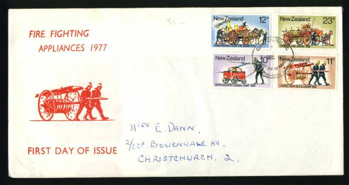 1977 Fire fighting fdc New Zealand