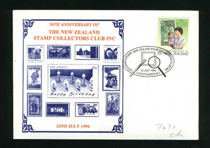 1994 New zealand stamp collectors club 50 years