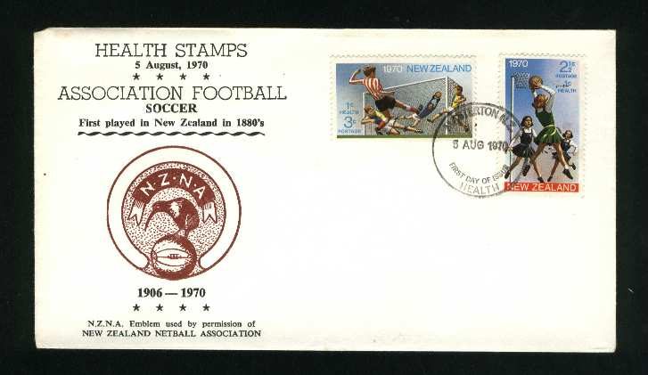 1970 Soccer and netball fdc New Zealand