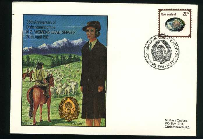 1981 Military cover disbandment of nz womens land service