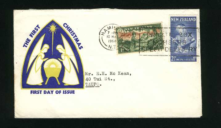 1968 1966 christmas cover but with health stamps