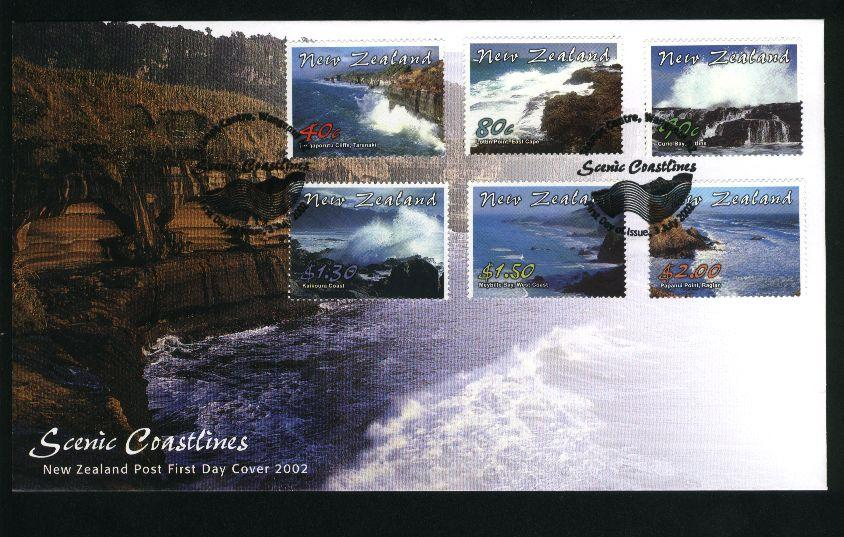 2002 New zealand fdc scenic coastlines