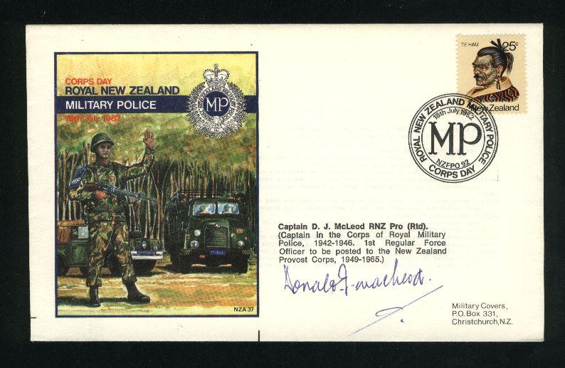 1992 Military police cover, signed gun