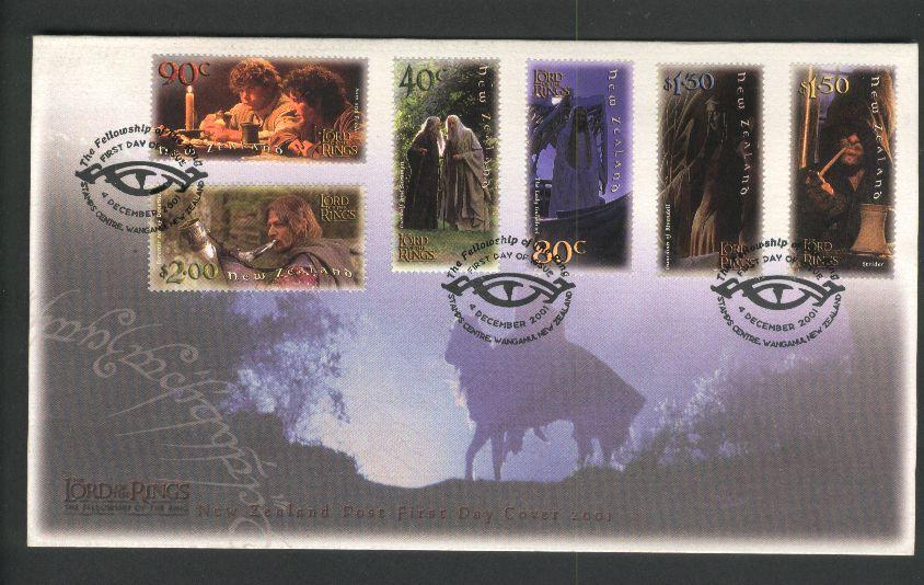2001 Fdc lord of the rings, self/ad