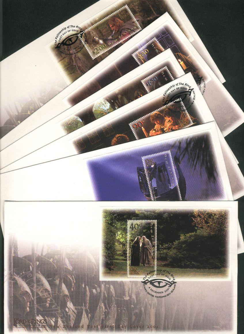 2001 Lord of the rings m/s fdc