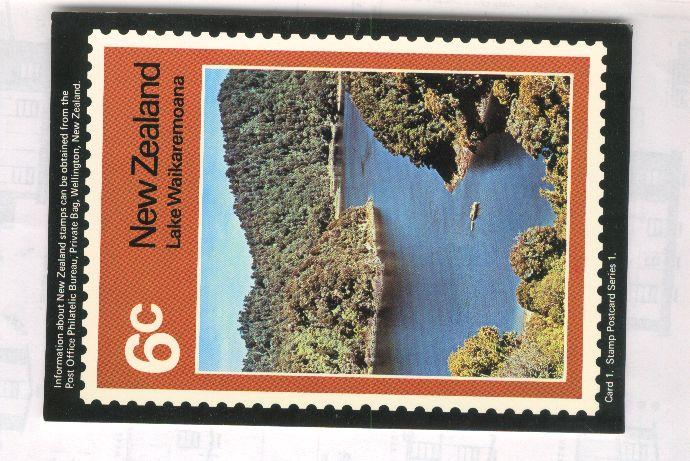 1972 Lake waikaremoana card
