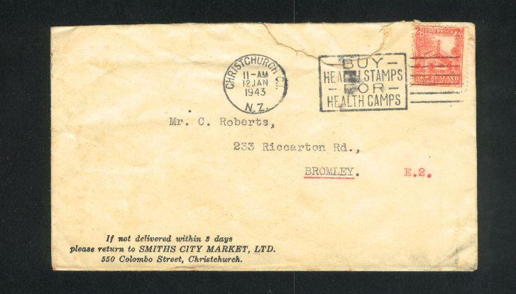 1943 Buy health stamp cancel cover