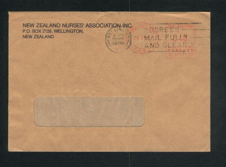 1988 New zealand nurses association envelope