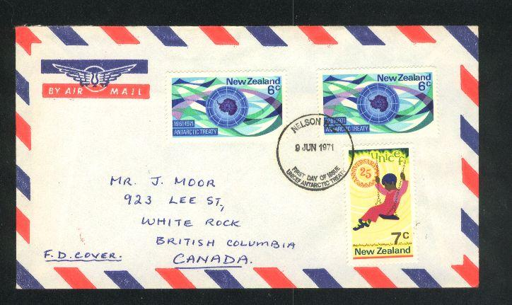 1971 Antarctic treaty air mail fdc