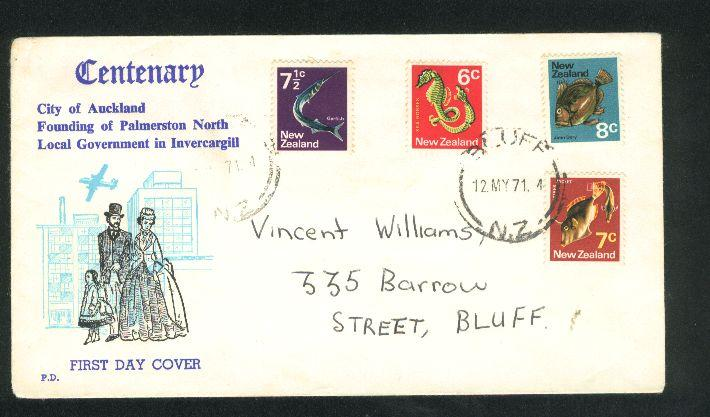 1971 Centenary fdc fish stamps