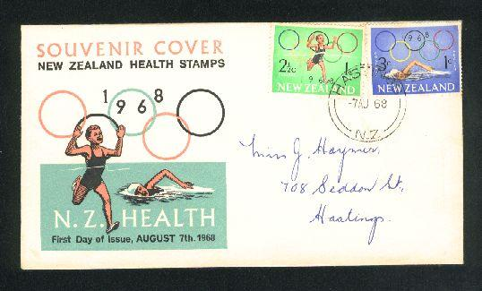 1968 Games fdc rings