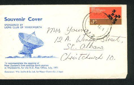 1972 Satellite station envelope