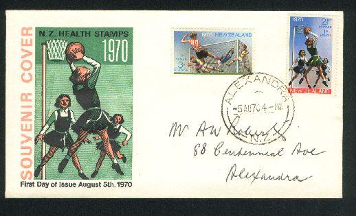 1970 Netball and soccer fdc New Zealand