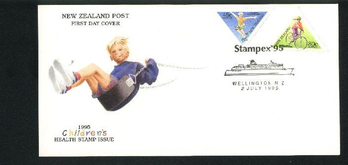 1995 Stampex cover, health stamps