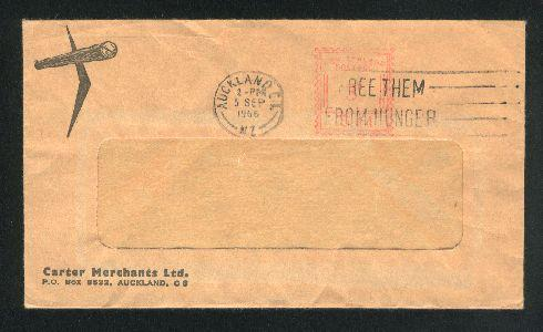 1966 Carter Merchants envelope, Free them from hunger