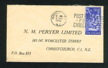 1949 Post early for Christmas cover